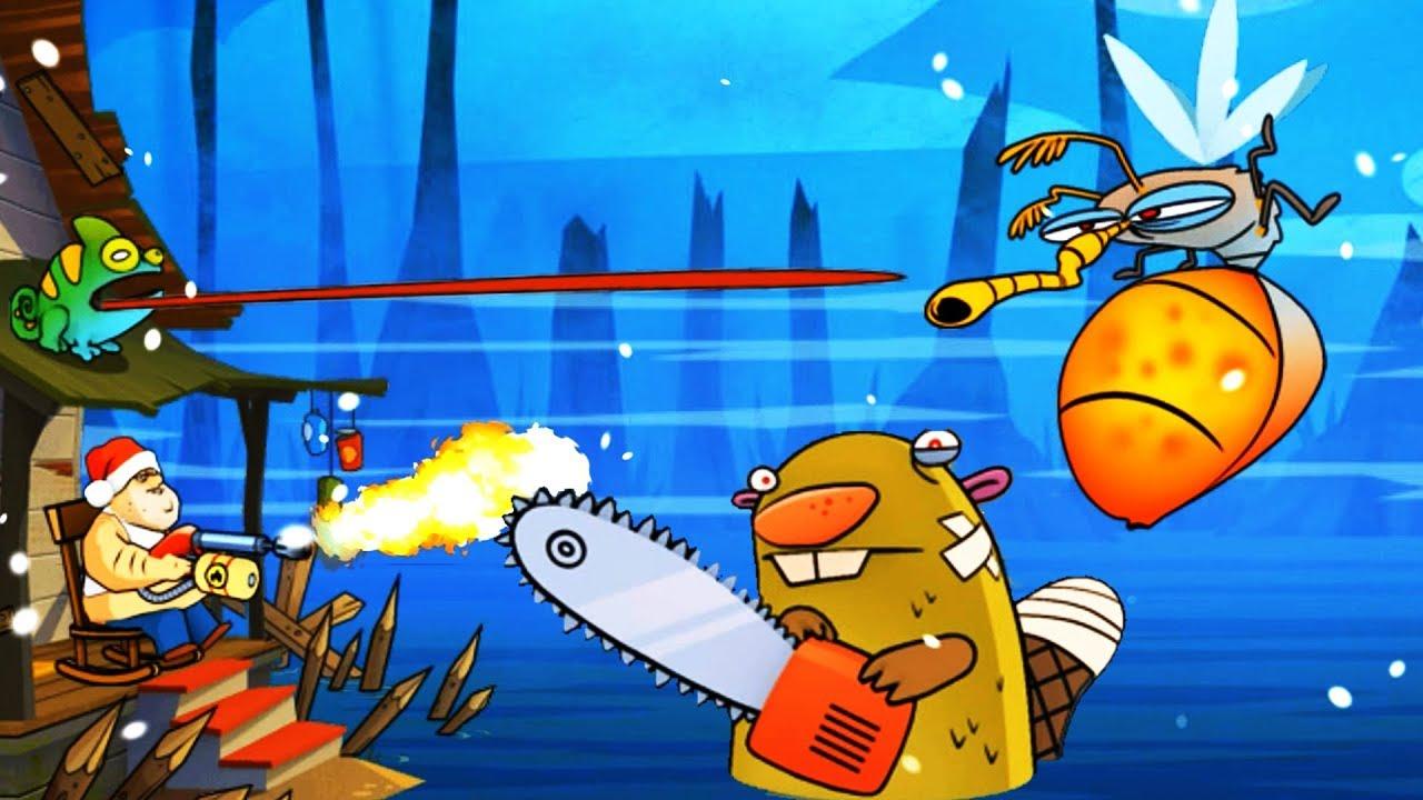 скачать взломанную игру swamp attack