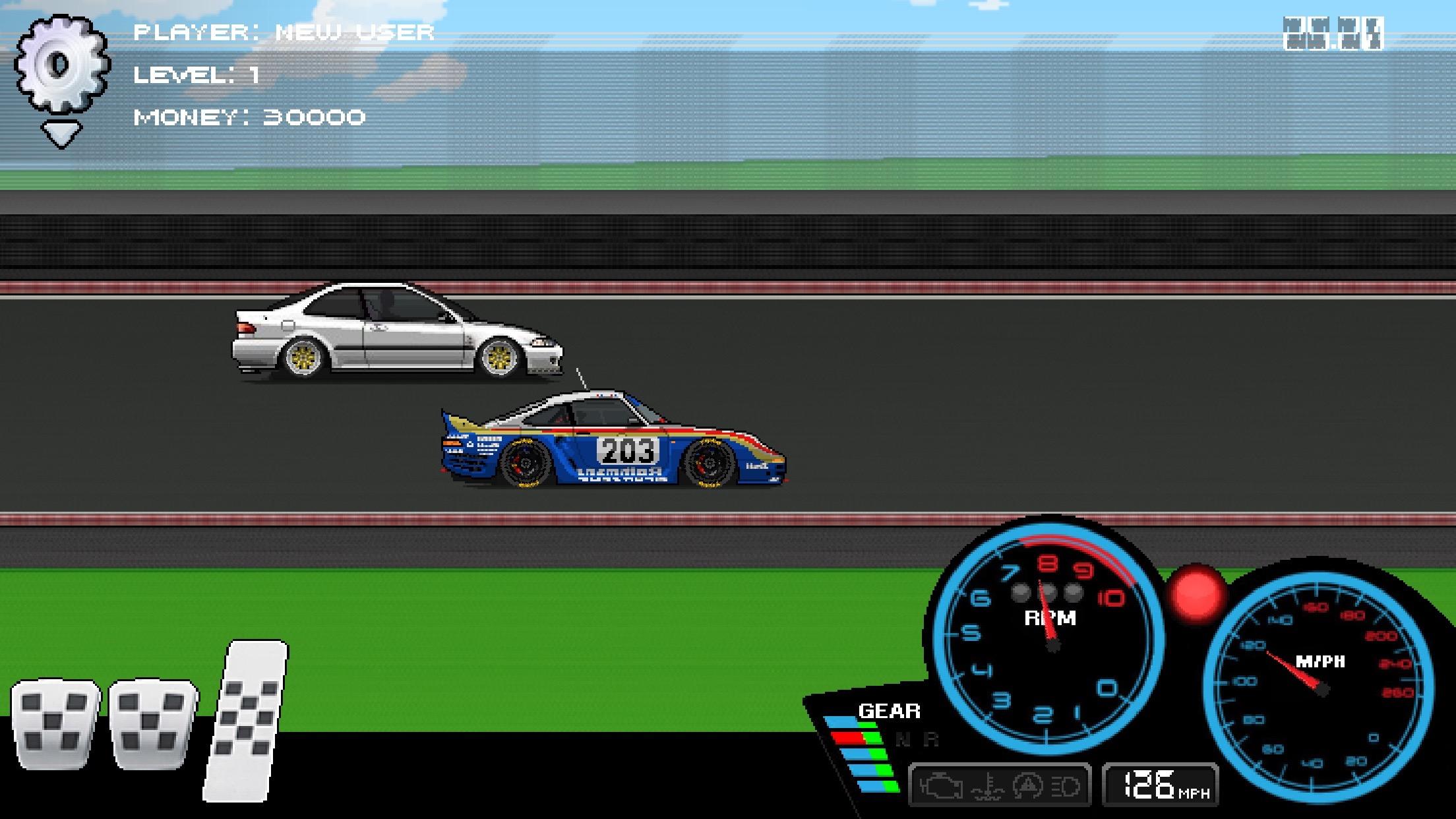 pixel car racer много денег