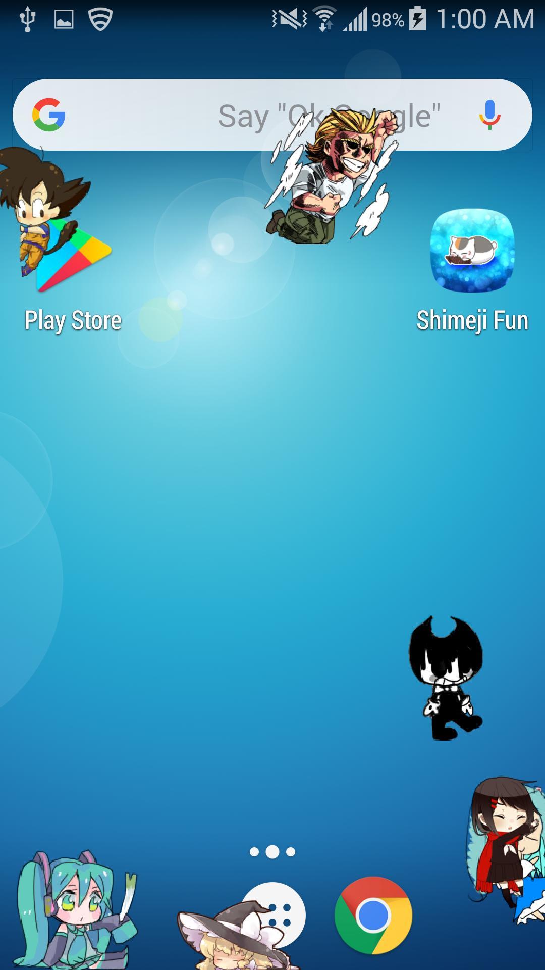 shimeji на андроид